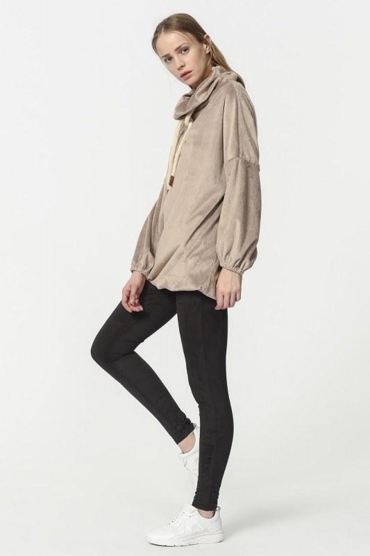 Peluş Sweatshirt (Vizon)