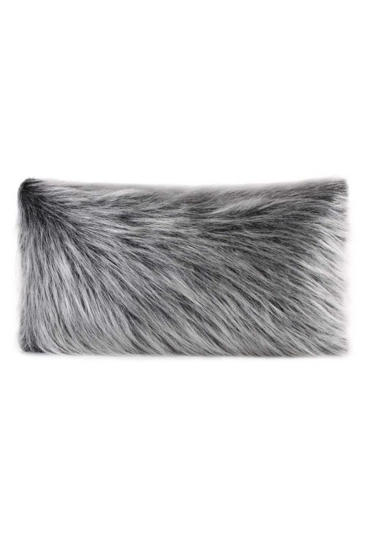 Plush Fur / Grey Pillow Case (35X60)