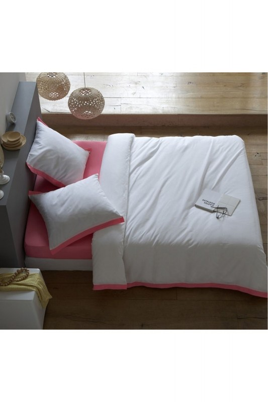 Pink/White Double Linens Set (200X220)