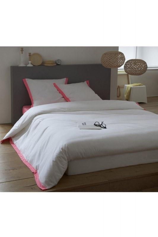 Pink/White Double Linens Set (200X220)