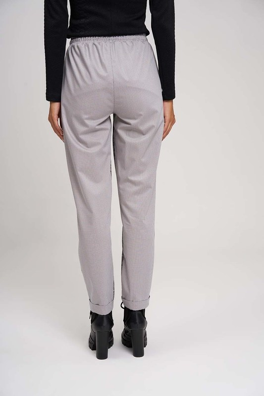 Piece Detailed Design Trousers (Grey)
