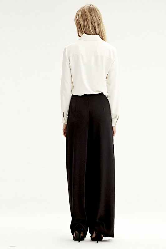 Pleated Trousers (Black)