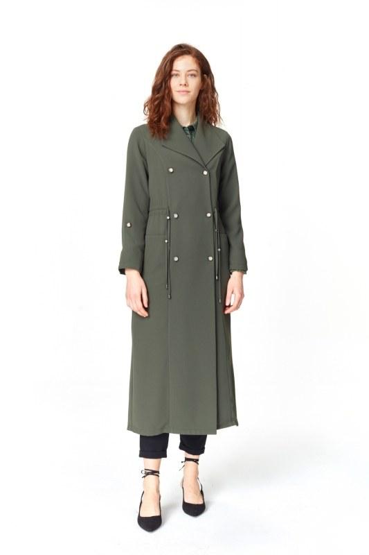 Pique Textured Trenchcoat (Khaki)