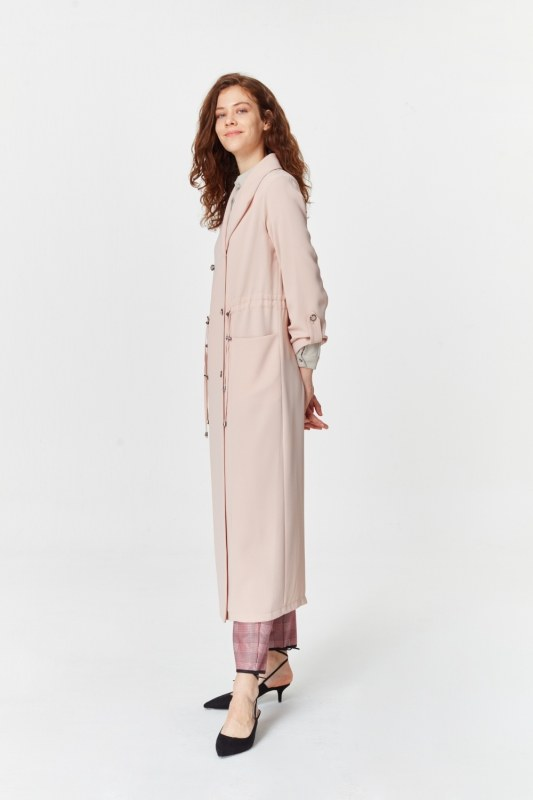Pique Textured Trenchcoat (Powder)