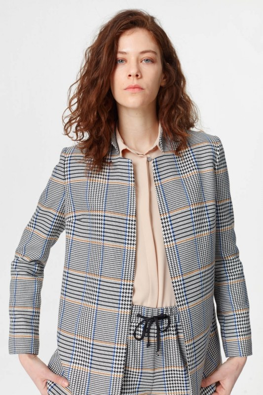 Plaid Casual Jacket (Blue/Grey)