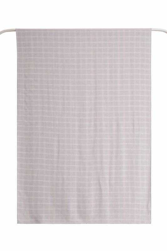 Plaid Shawl (Light Grey)