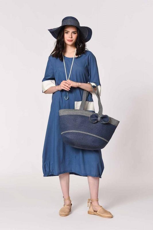 Beach Bag and Hat Set (Indigo)