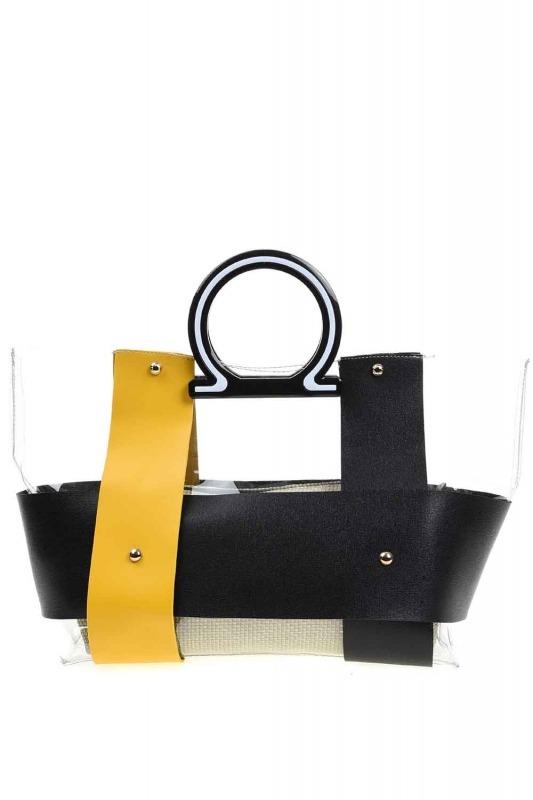 Transparent Hand Bag (Yellow)