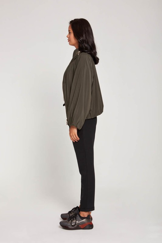 Plush-Lined Short Jacket (Khaki)