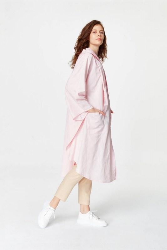 Poncho Design Raincoat (Light Pink)