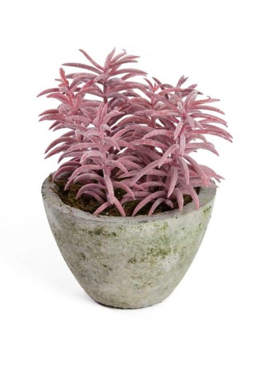 زهور اصطناعية بوعاء (15x15x18)
