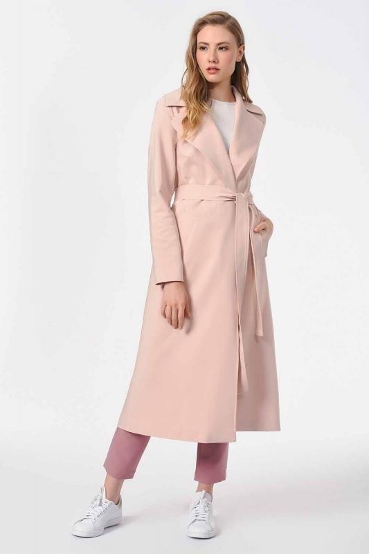 معطف الخندق الفاخر(وردي فاتح)