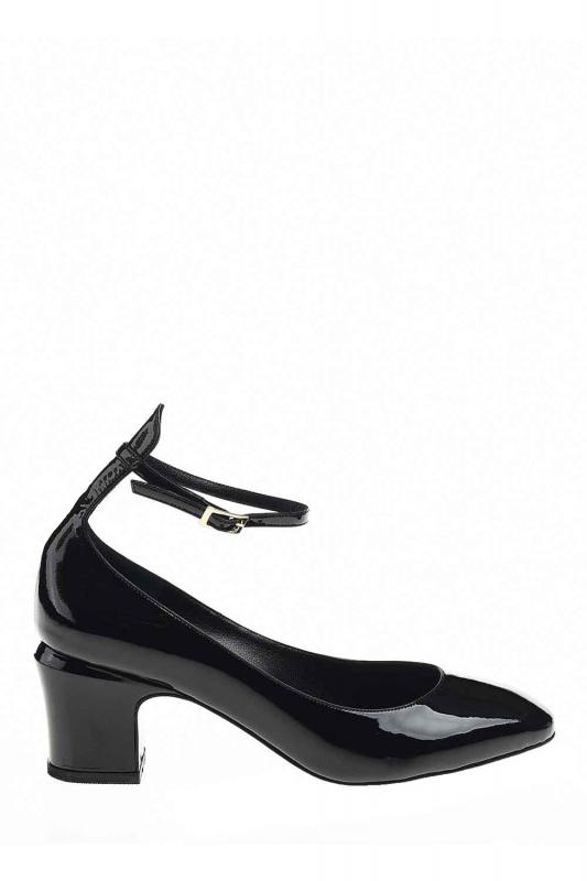 Premium Buckle Leather Shoes (Black)
