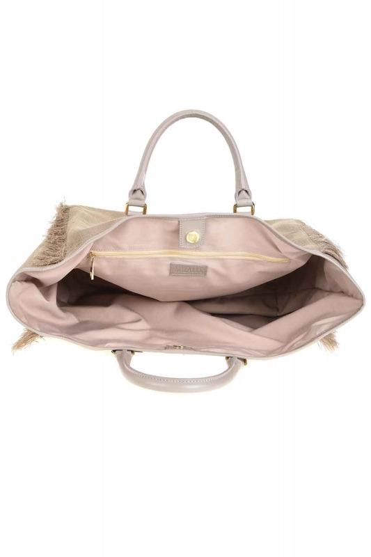 Tassel Detail Large Bag (Beige)