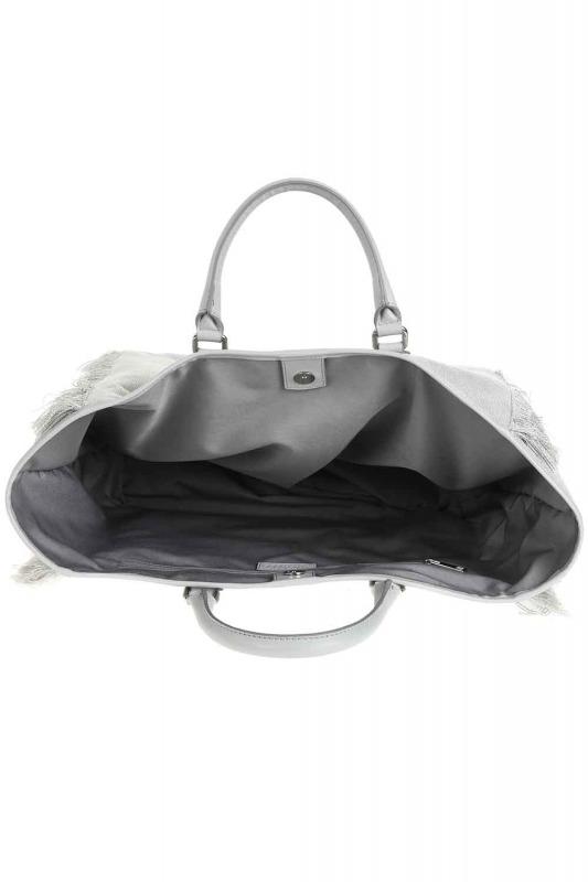 Tassel Detail Large Bag (Grey)