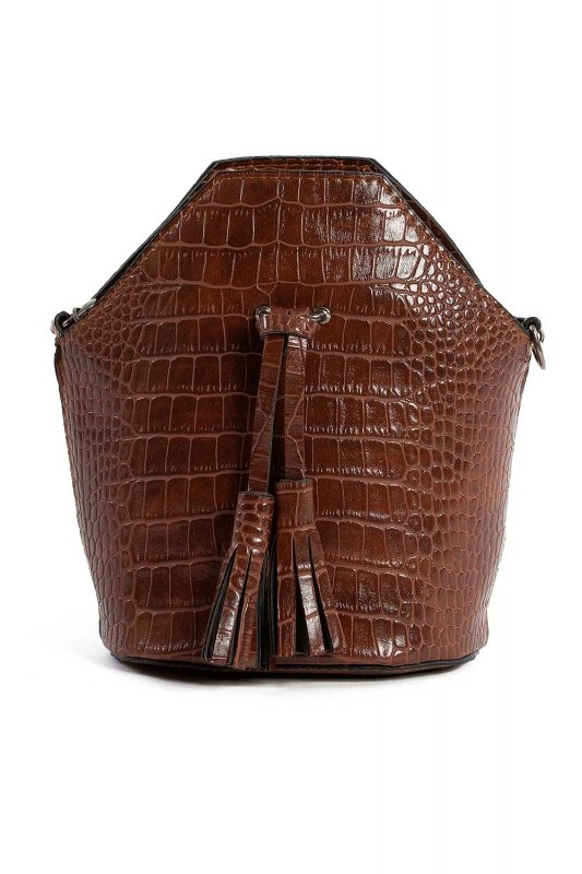 Tassel Detailed Women Handbag (Brown)