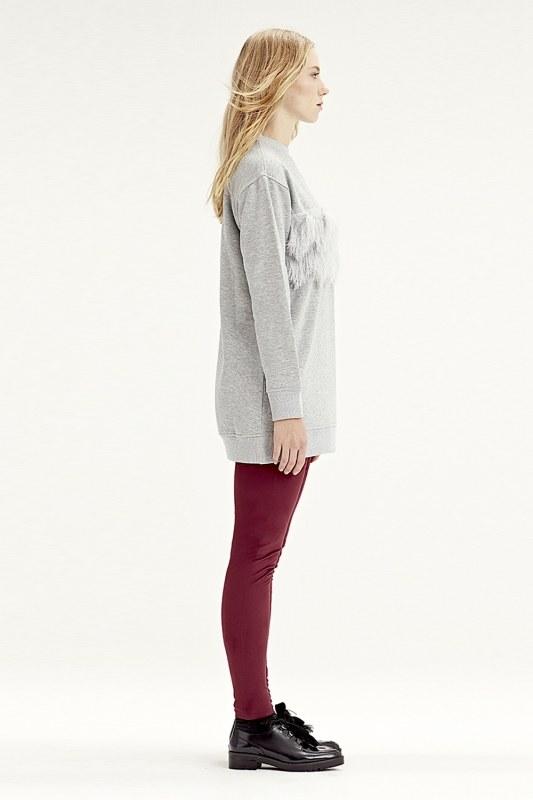 Fringe Detailed Sweatshirt (Grey)