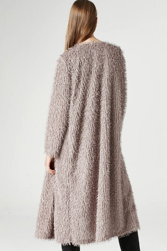 Tasseled Long Luxury Cardigan (Mink Color)