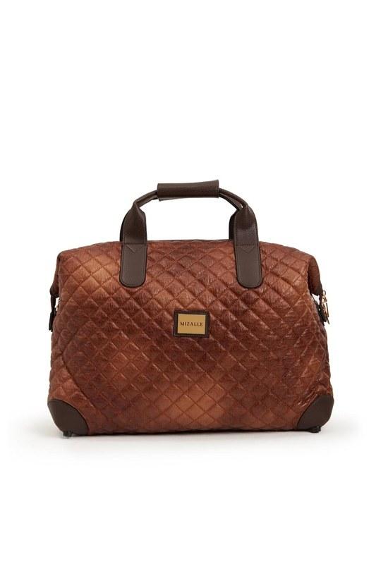 Quilted Large Shoulder Bag (Tan)