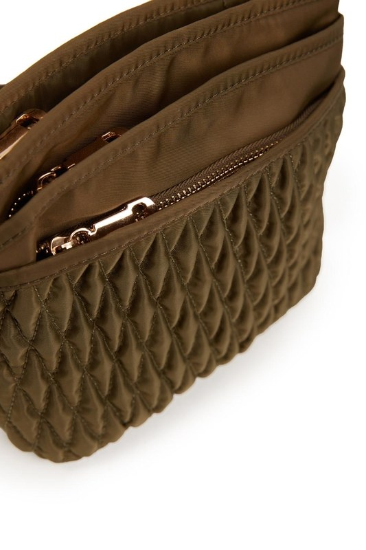 Quilted Shoulder Bag (Khaki)