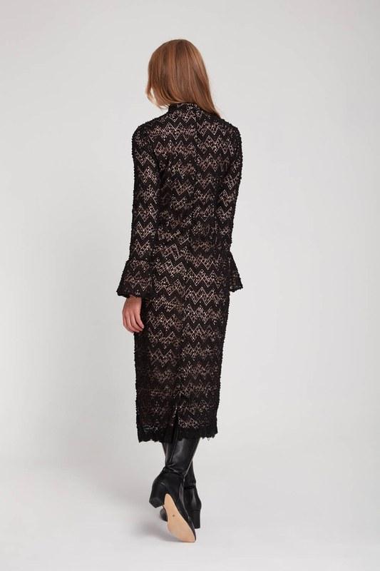 Renk Detaylı Dantel Elbise (Pembe)