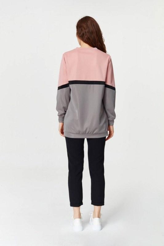 Renk Geçişli Sweatshirt