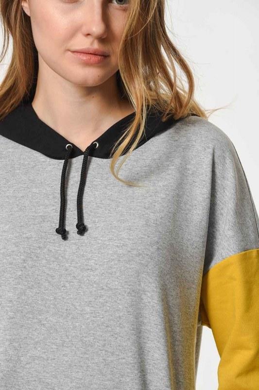 Color Piece Hooded Sweatshirt (Mix)