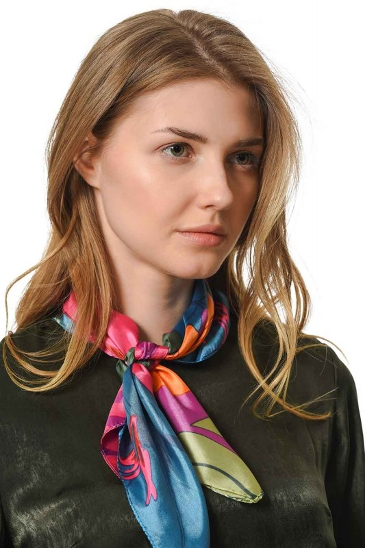 Colorful Satin Foulard (Mix)