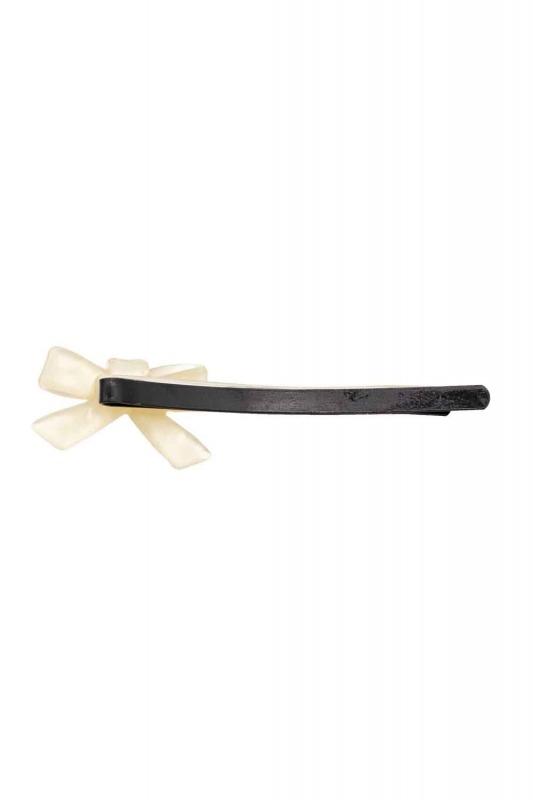 Ribbon Shaped Hair Clips (Ecru)