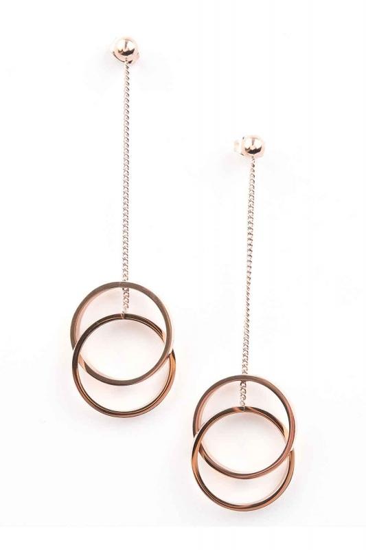 Round Shaped Steel Earrings (St)