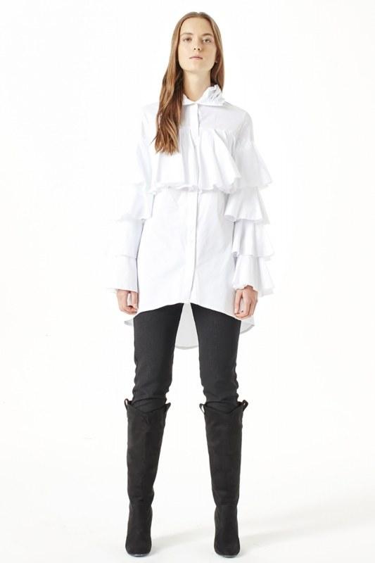 Ruffle Shirt (White)