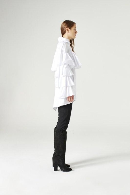 Ruffle Gömlek (Beyaz)