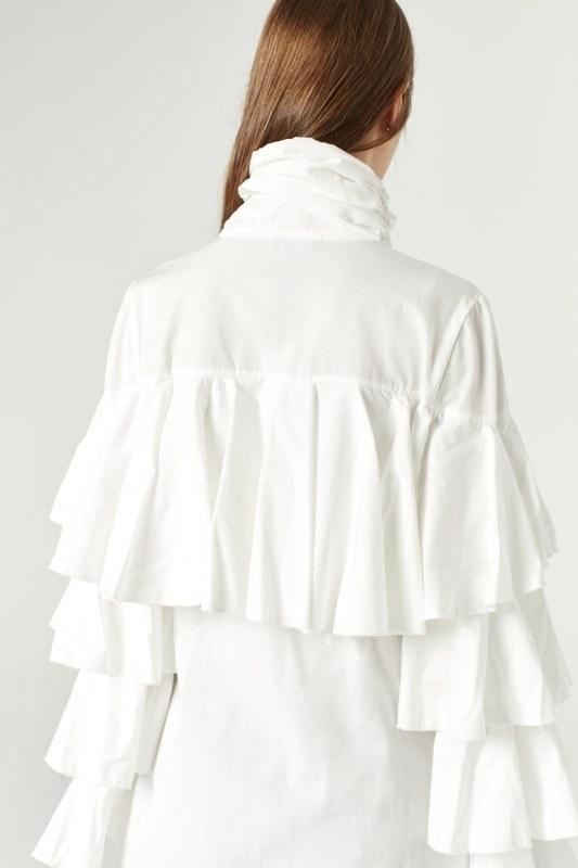 قميص بكشكشة (أوف وايت)