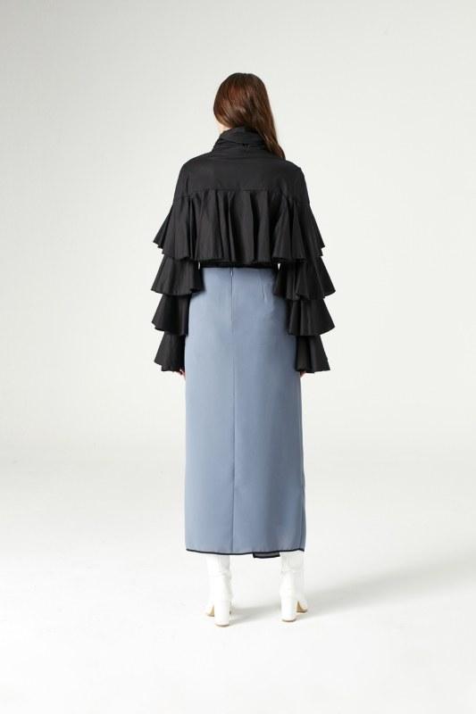 Ruffle Shirt (Black)