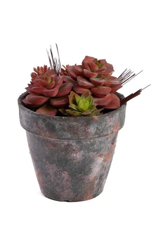 زهور اصطناعية بوعاء (18 × 18 × 15)