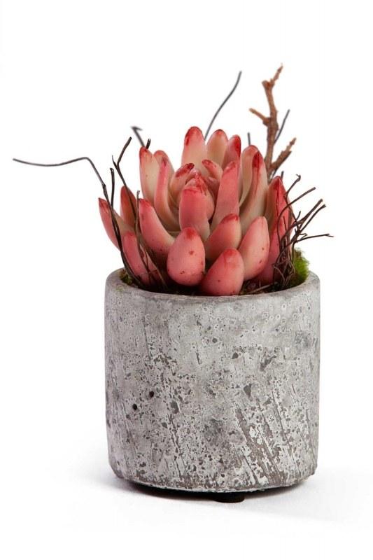 زهور اصطناعية بوعاء (7x7x12)