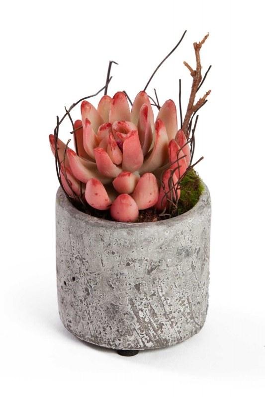 Saksılı Yapay Çiçek (7x7x12)