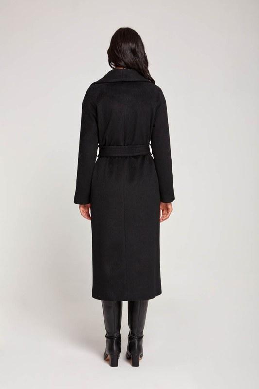 معطف شال بياقة على الطراز التايلندي (أسود)