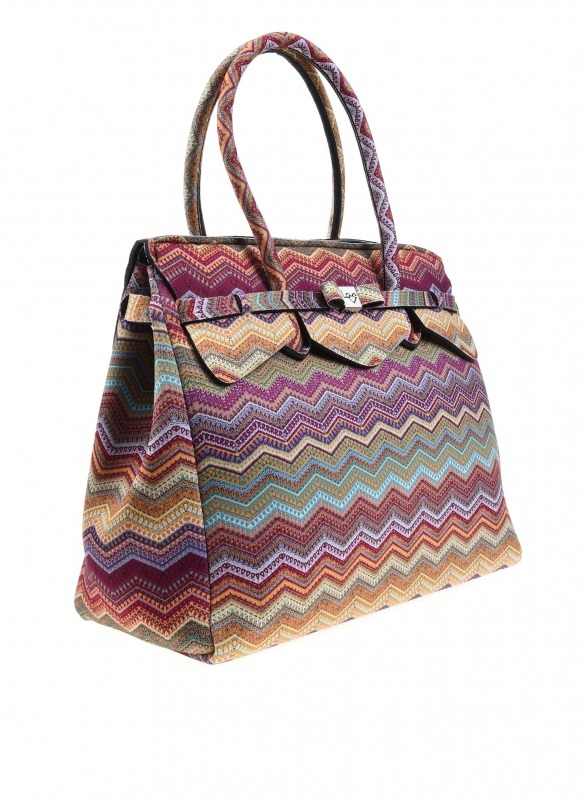 Large Fabric Shoulder Bag (Ethnic)