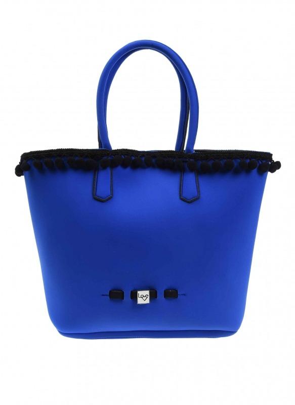 Pompom Detail Bag (Saxe Blue)