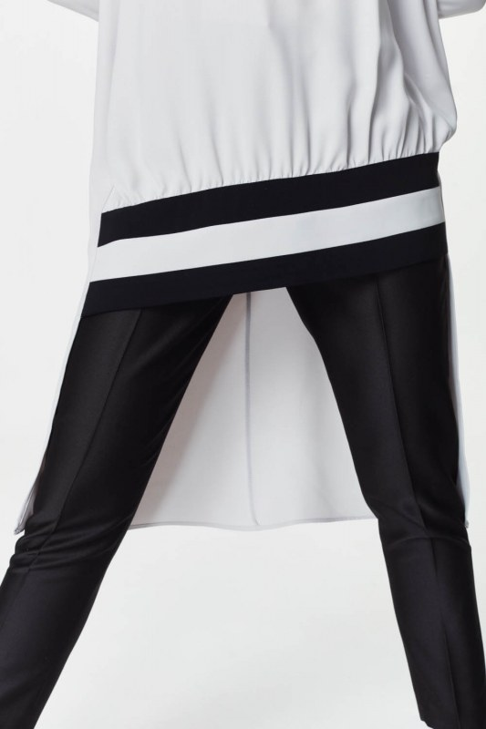 Stripe Detailed Tunic Dress (Grey)
