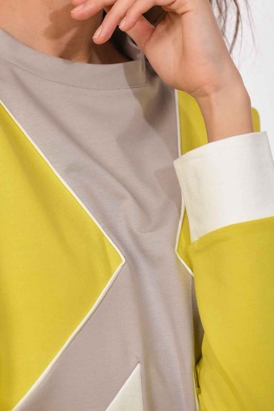 قميص من النوع الثقيل مخطط(أَخْضَرُ نَاضِر/ عَاجِيّ)