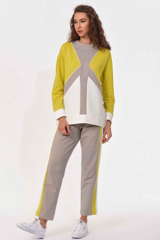 Şerit Detaylı Sweatshirt