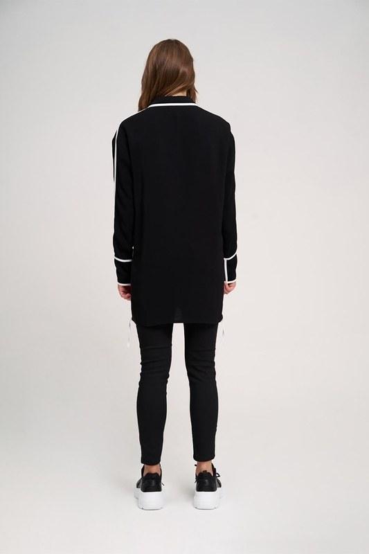 Ribbon Detailed Tunic (Black)