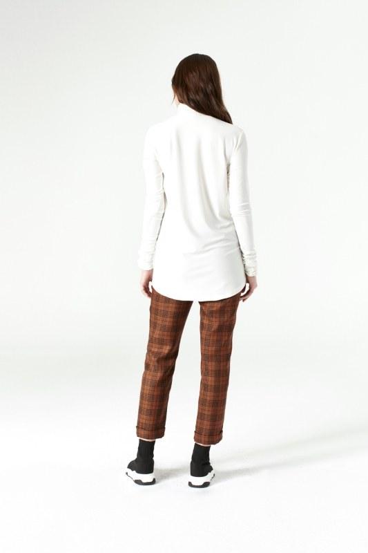 Shirring-Collar Blouse (Ecru)