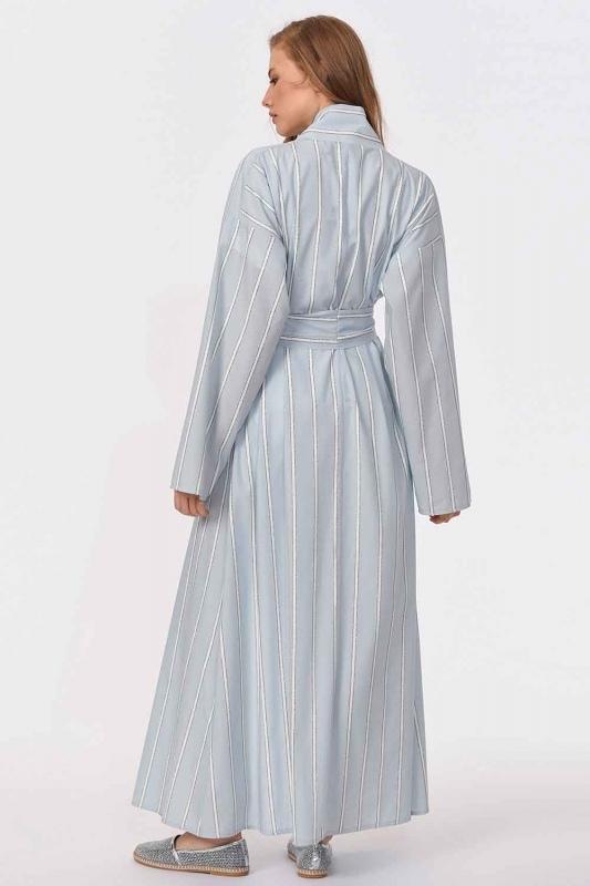 Sim Striped Kimono (Blue)