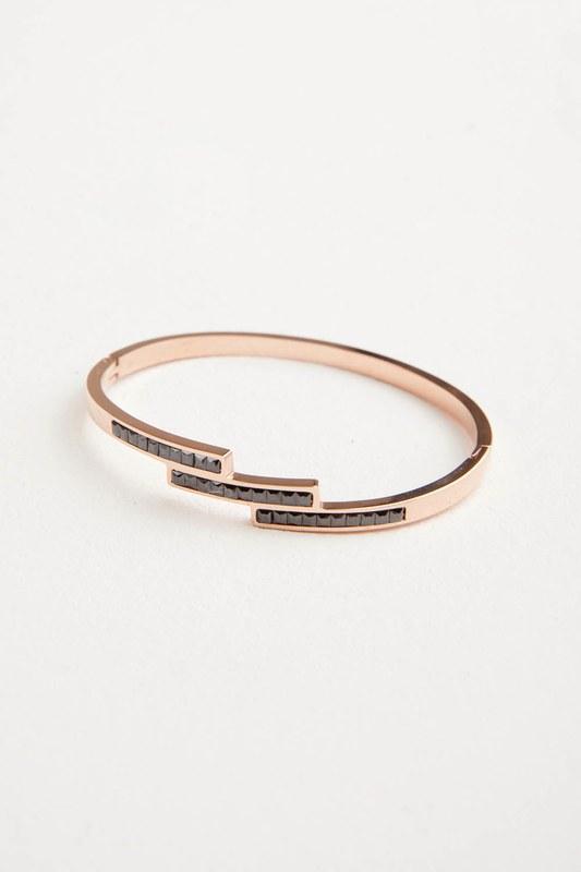 Black Stone Steel Bracelet