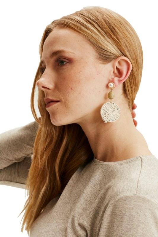 Spiral Earrings (Ecru)