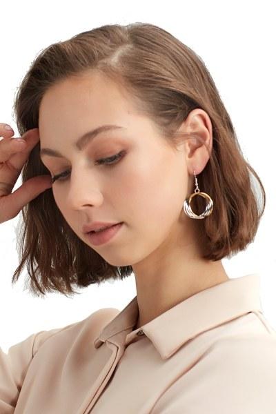 Spiral Hoop Earrings (Grey)