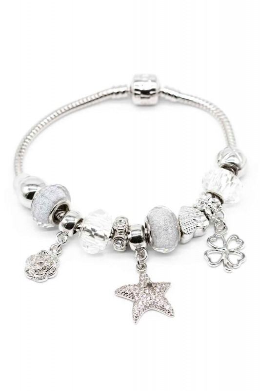 Star Shaped Bracelet (White)